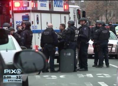 News video: Two NYPD Officers Shot Dead in Apparent Ambush